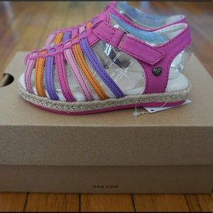 BNIB Ugg Pink/Multi Gretel Sandals, Sz 6 Toddler